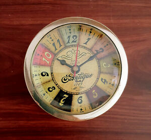 Antique Brass Clock Table Top And Wall Clock Royal Classic Round Shape Clock