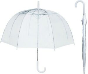 House Of Reign Clear umbrella Big 47inch Dome with Extra STRONG Reinforced Ribs