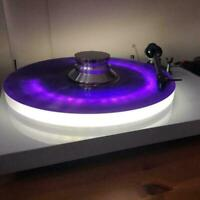 Vinyl Record Player Turntable With LED Light Modern Gift Design Home Q5Z3