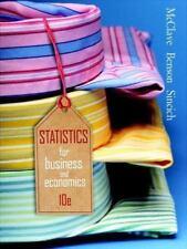 Statistics for Business & Economics (10th Edition) McClave, James T., Benson, P
