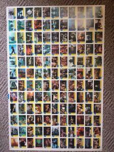 1990 Topps Teenage Mutant Ninja Turtles The Movie Uncut Sheet ~ 132 Cards