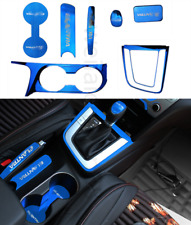 For Hyundai Elantra 2017-2019 Stainless Steel Blue Interior kit Cover Trim 7PCS