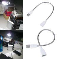29cm USB Male to Female Extension Cable LED Light Adapter Metal Flexible Tube