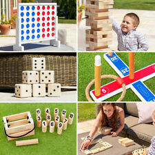 Garden Games | Outdoor Giant Jenga, Dominoes, Connect 4, Skittles *Fast Ship*