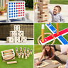 Garden Games | Outdoor GIANT JENGA, DOMINOES, CONNECT 4, SKITTLES **FAST SHIP**