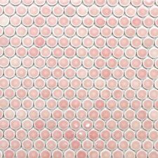 Light Pink Penny Round Mosaic Tile For Wall Floor