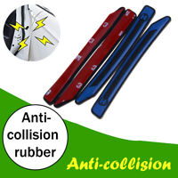 Blue Car Door Silicone Edge Guard Strip Scratch Protector Anti-collision Trime