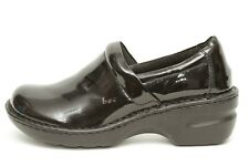 BOC Born Concept Womens Black PU Patent Leather Peggy Clogs Size 8
