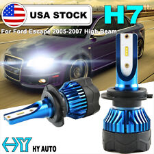 H7 Led 72W 8000Lm Headlight Kit High Beam Bulbs 6000K White For Ford Escape 2007(Fits: Neon)