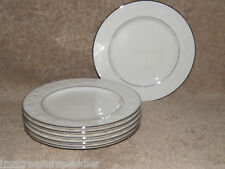 Noritake Halls of Ivy Platinum 6 Bread Butter Dessert Plates New with Tag