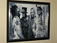"MOTLEY CRUE - 2012 FULLY HAND SIGNED 8"" X 10"" COLOUR PHOTO - FRAME NOT INCLUDED"