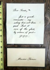 VINTAGE PHANTOM OF THE OPERA BROADWAY STAGE USED PROP LETTER - MAJESTIC THEATRE