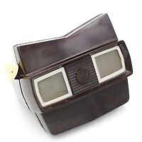 Vintage View Master Model E Brown Bakelite Viewer with Buff Handle viewmaster
