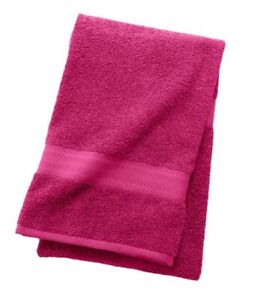 """Pack of 4 - The Big One Solid Bath Towel 30"""" x 54"""" 100% Cotton RASPBERRY"""