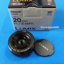 Panasonic Lumix G 20mm/F1.7 II ASPH H-H020A - Color:Black - Panasonic Retail Box