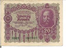 AUSTRIA, 20 KRONEN, 1922