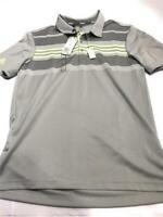 Adidas Men's ADI Bold Sport Golf Polo Shirt, Stripe Grey/Green, Size Small