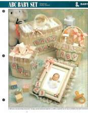 LOT/7 PLASTIC CANVAS LEAFLETS BABY PROJECTS