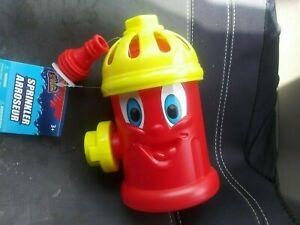 Kids fun fire hydrant yard sprinkler, Attach Water hose splash up