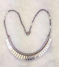 Machine Age Necklace Fabulous Art Deco Chromium
