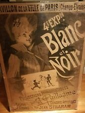 1890 French Poster by Jules Cheret for the 4th Exhibition of Blanc et Noir