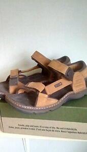 Clarks Men's Active Air Brown Leather Sandals Shoe Size 8G