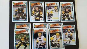 Pittsburgh Penguins 1988-89 Topps Team Set NMMT (Lemieux)