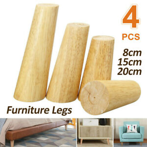 4Pcs/lot Wooden Cone Furniture Legs Kit Sofa Table Chair Feet Include Accessorie