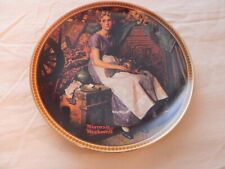 "Norman Rockwell Plate ""Dreaming In The Attic"" Rockwell's Rediscover Women 14633J"