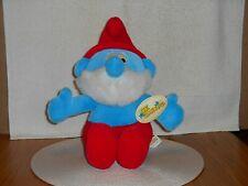"""Plush 12"""" Seated Papa Smurf 1999 Tagged"""