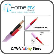 QED QX16/2 LSOH LZOH 2 Core Installation Speaker Cable - 100m Box