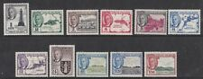 BRITISH VIRGIN ISLANDS 1952 KGVI DEFINITIVE SET TO $2.40 LIGHTLY HINGED MINT