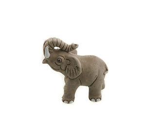 Elefante Figurina IN Ceramica Fatto Mano Bolivia 3846