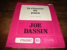 JOE DASSIN - PARTITION LE CHEMIN DE PAPA !!!!!!!!!!!!