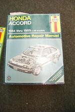 haynes honda accord 1984 thru 1989 auto repair manual