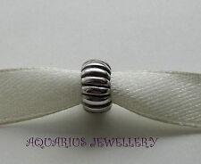Solido reale Sterling Silver Round PUMKIN Bracciale con Charm Perline libero SCATOLA REGALO