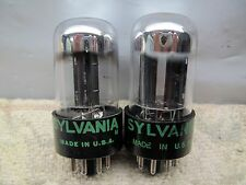 SYLVANIA 6SN7 GTB  NOS Well-Balanced   Gm & Ip  PLATINUM MATCHED PAIR