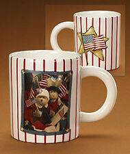 Boyds Bear At Home Coffee Mug Stars And Stripes #390570 Nwt!