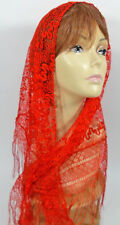 "RED SUPER SOFT SHAWL W/ TASSELS 55"" X 28"" GREAT FOR RED HAT LADIES OF SOCIETY"