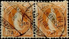 SWITZERLAND 1905   20 C.  Stamps of 1882/1899 su carta con frammenti di fili