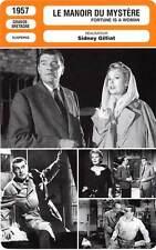 FICHE CINEMA : LE MANOIR DU MYSTERE - Hawkins,Dahl,Lee 1957 Fortune is a Woman