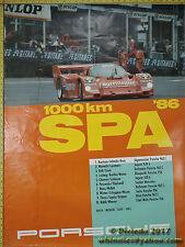 1986 Derek Bell 1000km Spa Porsche  Genuine Factory Poster Original