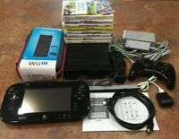 Nintendo Wii U - 32GB Black Console Bundle - Mint Condition! (& Fully Tested!!!)