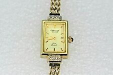Vintage Centier Geneve Swiss Quartz Watch REAL SOLID 10 k Yellow Gold 10.0g