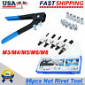 86 Pcs Threaded Nut Rivet Gun M3-m8 Insert Tool Riveter Rivnut Nutsert Riveting