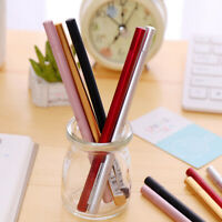 Gift Plastic Smooth Triangle Pole Gel Pen Simple Style Writing Tool Black Ink