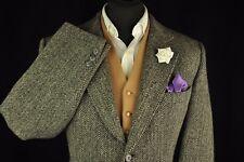 """Vintage HARRIS TWEED HERRINGBONE maßgeschneiderte Land Hacking Jacket 42"""" #170"""