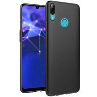 Hülle für Huawei P Smart Z Dual Sim STK-LX1 Tasche Silikon Schutz Case SCHWARZ