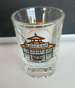 Vintage Blackie's Bar Lahaina Maui  Shot Glass 2oz
