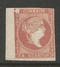 SPAIN ESPAÑA 1856-59 /  ISABEL II. 4 cu. EDIFIL 48. VARIEDAD